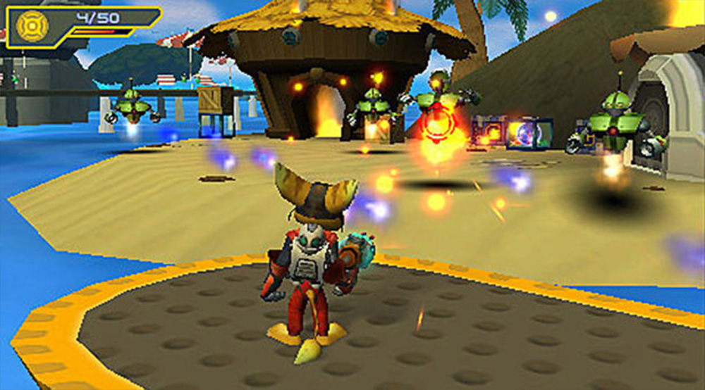 Playstation Portable PSP Screenshot Ratchet & Clank Size Matters